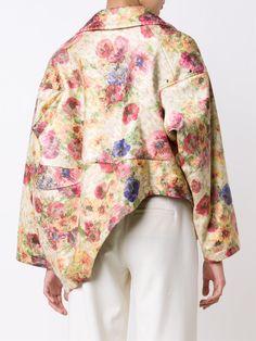 Comme Des Garçons floral print oversized jacket