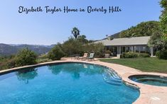 Elizabeth Taylor described it as the most beautiful house she had ever seen — and the Beverly Hills mansion she shared with her second husband, British actor Michael Wilding, is definitely stunning. Elizabeth Taylor, Villa, Michael Wilding, Beverly Hills Mansion, Zen, Salons Cosy, Chalet Design, Malibu, Eco Architecture