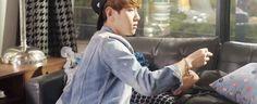 Baekhyun's cute look as he turns around. He's so full of aegyo all the time, its too cute.