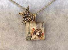 25mm Retro Paris Necklace by CutesyandFun on Etsy