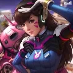 D.Va by tsuaii on DeviantArt