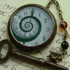 Time Travel Steampunk Pocket Watch Necklace