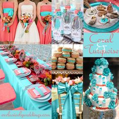 """Coral and Turquoise Wedding 