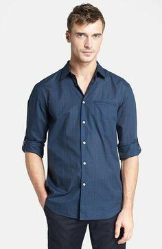 5ce62d6eb5b0aa John Varvatos Collection Slim Fit Plaid Shirt available at  Nordstrom John  Varvatos