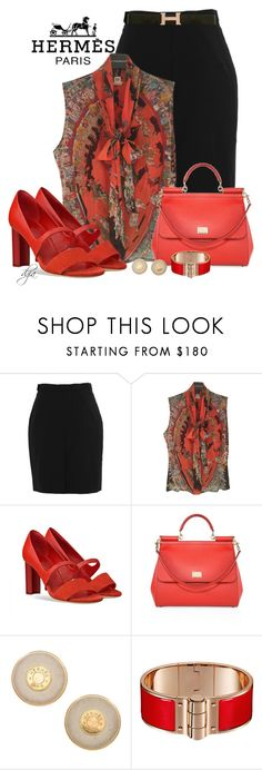 """""""Hermès total look"""" by dgia ❤ liked on Polyvore featuring Hermès and Dolce&Gabbana"""