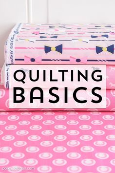 Sewing Quilts Learn some of the basics of quilting to help get you started if you're a beginning quilter. - Learn some Quilting Basics for beginners including tips and tricks to help you get started quilting. Find out how to start making a qulit. Quilting 101, Quilting For Beginners, Quilting Tutorials, Quilting Projects, Sewing Tutorials, Quilting Ideas, Machine Quilting Patterns, Dress Tutorials, Easy Sewing Projects