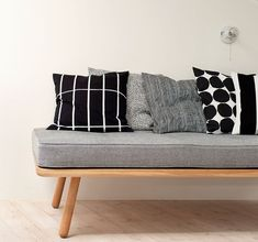 Marimekko Pienet kivet cushion cover 50 x 50 cm Fall Pillows, Bed Pillows, Couch Cushions, Cushion Covers, Pillow Covers, Kitsch, Creative Beds, Beds For Small Spaces, Black Bedding