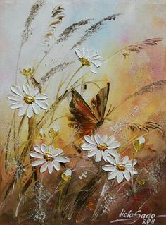 Ideas butterfly art painting acrylics originals for 2019 Butterfly Painting, Oil Painting Flowers, Butterfly Art, Texture Painting, Painting & Drawing, Flower Art, Illustration Blume, Acrylic Art, Painting Inspiration