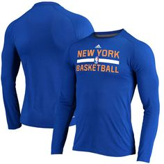 a7824f77f24 New York Knicks adidas 2016 On-Court Climalite Ultimate Long Sleeve T-Shirt  -