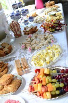 Tea party finger food