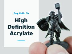 Say hello to Black High Definition Acrylate, our newest material launching today! It's a high detail material similar to Frosted Ultra Detail (FUD), but smoother and more durable. Who is it for? While anyone can use Black High Definition Acrylate [ak-ruh-leyt, -lit], it is perfect for those...