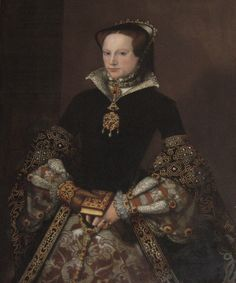 "(Bloody) Mary Tudor, later Queen Mary I. Daughter of Henry VIII and his first queen Catherine of Aragon. Born 1516 and died Married Phillip II of Spain in Known to history as ""Bloody Mary"" for her crimes against humanity during her reign, No info - djc"