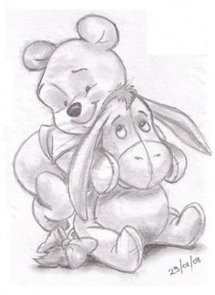 Winnie the pooh and eeyore sketches of girls, drawings of girls, disney drawings sketches Disney Drawings Sketches, Cartoon Drawings, Animal Drawings, Cool Drawings, Drawing Sketches, Sketching, Simple Disney Drawings, Drawing Ideas, Disney Pencil Drawings
