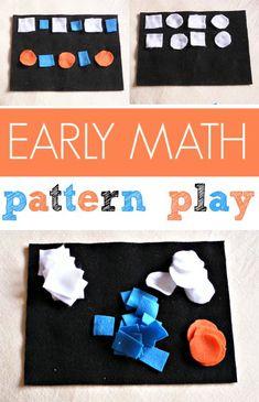 DIY felt pattern play kit is a great  preschool math activity