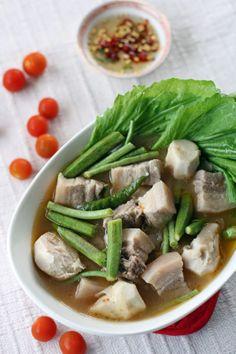 Sinigang na Baboy - Tamarind Pork Belly Stew. Pinoy All time Favorite. :)