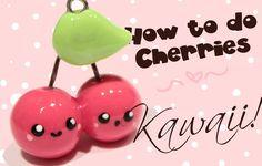 ◕‿‿◕ Cherries! Kawaii (Tutorial in Polymer Clay)