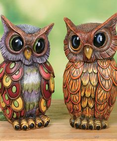 I'm in love with this Concrete Spring Owl Set on #zulily! #zulilyfinds