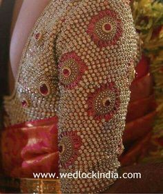 Latest Maggam Work Blouse Designs with Catalogues in India 2019 & 2020 Saree Jacket Designs, Pattu Saree Blouse Designs, Fancy Blouse Designs, Latest Maggam Work Blouses, Stone Work Blouse, Mirror Work Blouse Design, Blouse Designs Catalogue, Maggam Work Designs, Hand Embroidery Designs