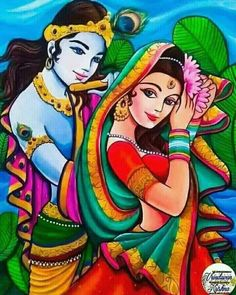 radha and krishna Cute Krishna, Krishna Art, Radhe Krishna, Shree Krishna, Radha Krishna Paintings, Lord Krishna Images, Radha Krishna Pictures, Krishna Photos, Madhubani Art