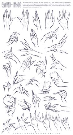 Clawed Hands Reference by =senbo-sencho on deviantART