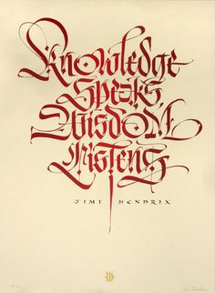 Knowledge Speaks - Red (Silkscreen Signed Limited Edition of 44)  by Luca Barcellona