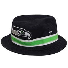 9ff9a2307eb40  47 Brand Seattle Seahawks Bucket Hat - Black Seattle Seahawks Hat