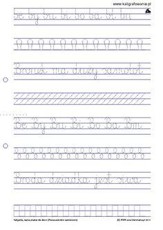 Pisanie Zestaw 1 Kaligrafia Nauka Pisania Dla Dzieci Szablony