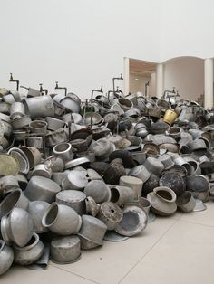 subodh gupta  his is not a fountain, 2011 – 2013 installation view at MMK museum für moderne kunst frankfurt am main