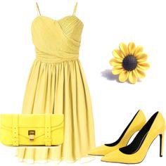 """Yellow <3"" by amalerczyk on Polyvore"
