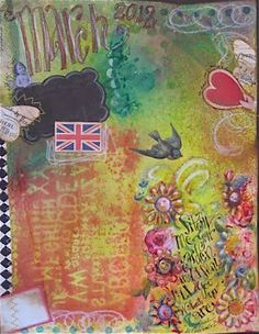garden journal created with Dylusions ink spray.  Love that stuff.