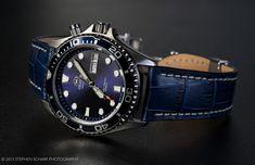 Orient Blue Ray with Ocean Blue BOB Marino Strap.