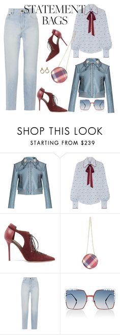 """""""#statementbags"""" by giotibi ❤ liked on Polyvore featuring Amy Winehouse, Miu Miu, Marc Jacobs, Malone Souliers, Vivienne Westwood, Yves Saint Laurent, Fendi and statementbags"""