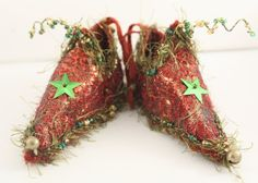Fairy Shoes Christmas Ornament by Nells Embroidery