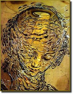 Tête Raphaélesque Éclatée (Raphaelesque Head Exploded) by Salvador Dali, 1951