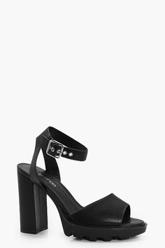 Black Suedette Strappy Low Block Heel Sandals Add to Saved Items Remove from Saved Items