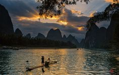 Stepping into the Li river of Guilin,stepping into a Chinese painting.