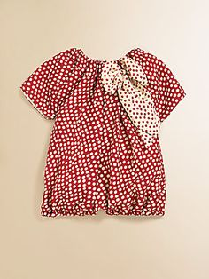 Isabel Garreton Infant's Silk Polka Dot Romper