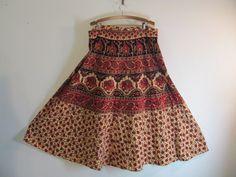 Boho Vintage Maxi Wrap Skirt by dirtybirdiesvintage on Etsy, $40.00