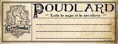 Potter frenchy party - Travaux pratiques : fabriquer les cahiers d'école de Harry Potter à Poudlard - DIY Hogwarts notebook - étiquettes - free printables