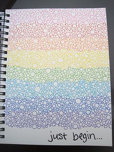 would be a great way to show pen or pencil colors. Simple rainbow circles