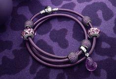 """Pandora """"animal purple"""" for holidays 2013 Purple Love, Purple Lilac, All Things Purple, Shades Of Purple, Purple Stuff, Purple Rain, Girly Stuff, Pandora Bracelets, Pandora Jewelry"""