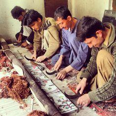 Rug Weavers in Afghanistan.