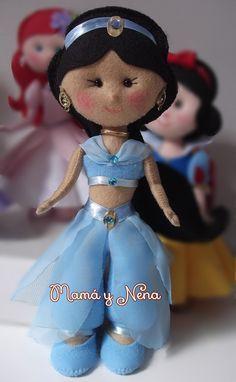 Princesa Jasmine em feltro www.mamaynena.com.br