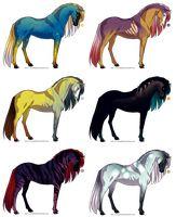 Horse Design Adoptables - OPEN by Karijn-s-Basement