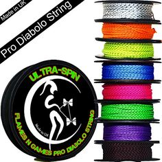 ULTRASPIN Pro Diabolo String 10m Reel Choice of Colors Performance High Speed Diablo String for all Diabolos Orange -- Read more  at the image link.Note:It is affiliate link to Amazon.
