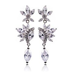 $13 Wedding blessing Cubic zircon earrings - Yohanna Jewelry Wholesale.  BEST PRICE: Directly in the jewelry factory. VAT-free shopping: Available, partners based in the European Union, only applies to EU tax identification number (UID). Exclusive design SWAROVSKI crystals and AAA Zircon crystal jewelry and men's stainless steel jewelry and high-quality stainless steel jewelry for couples sell in bulk to resellers! Please contact us.