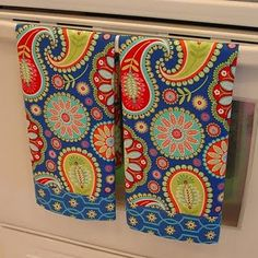 paisley dish towels - matches the apron!