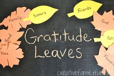 Get Crafty: Gratitude Leaves ~ Creative Family Fun
