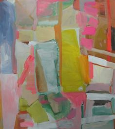Sally King Benedict, Aerial View, painting, colorful, acrylic and guache, abstract, modern