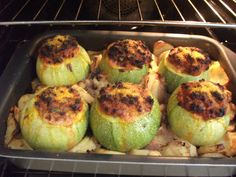 Qarabali mimli bil-patata l forn -Baked stuffed Marrows | i love maltese food